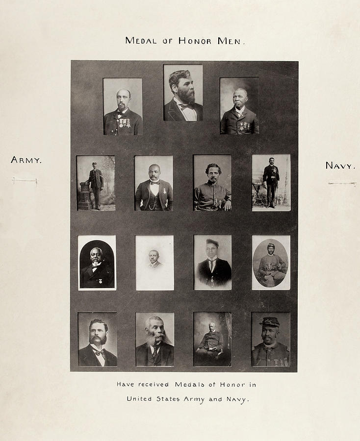 1899 Photograph - Medal Of Honor Recipients by Granger