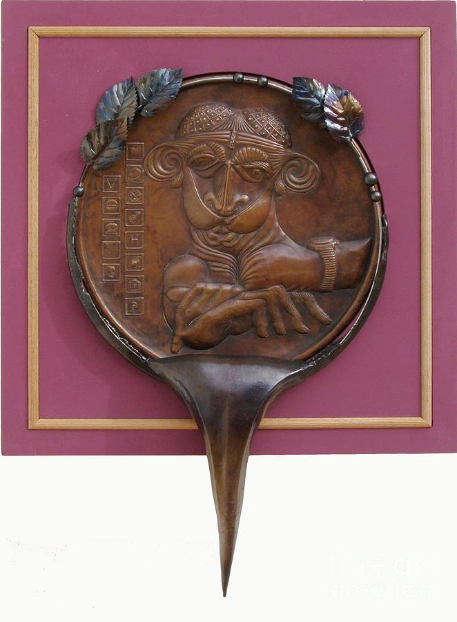 Relief Sculpture - Medallion for institutional cruelty by Gyula Friewald
