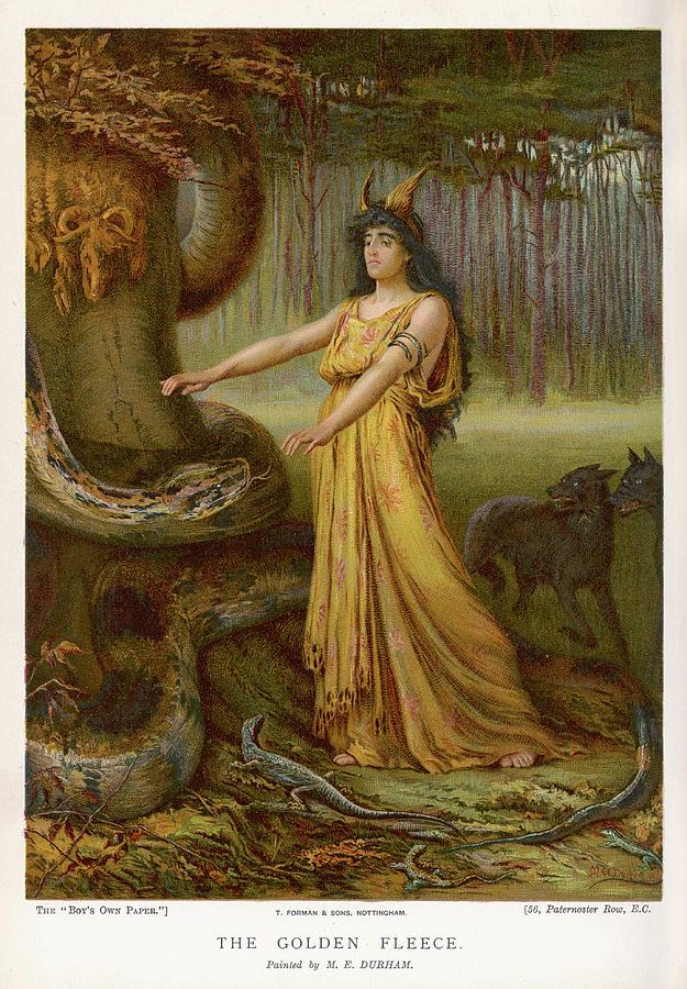 Medea Drawing - Medea, Daughter Of Aeetes King by Mary Evans Picture Library