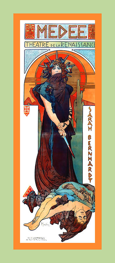 Medee Digital Art - Medee by Alphonse Maria Mucha
