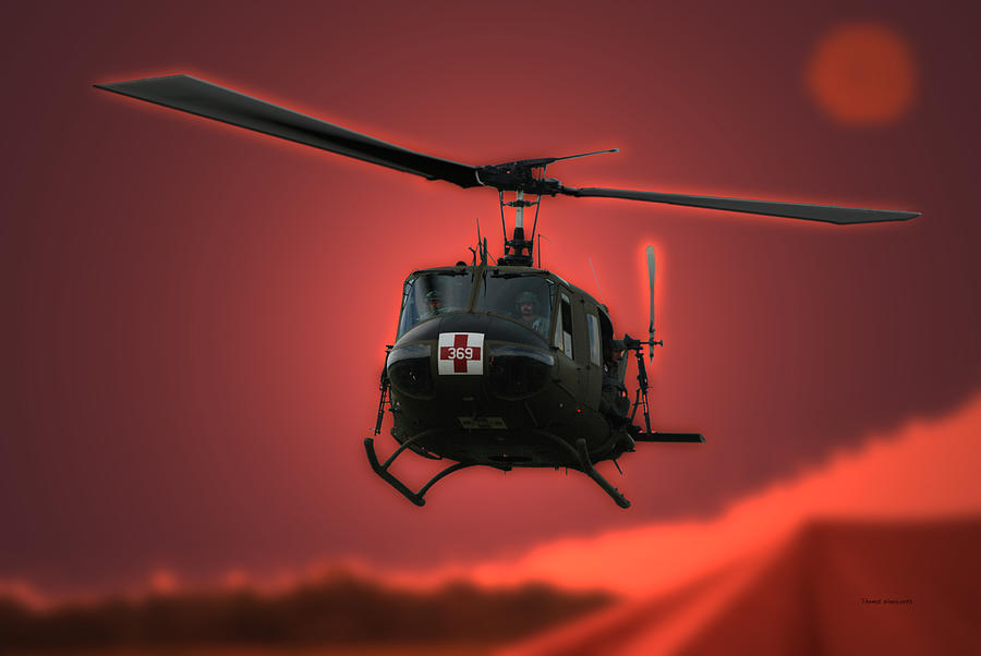 Dust Off Photograph - Medevac The Sound Of Hope by Thomas Woolworth