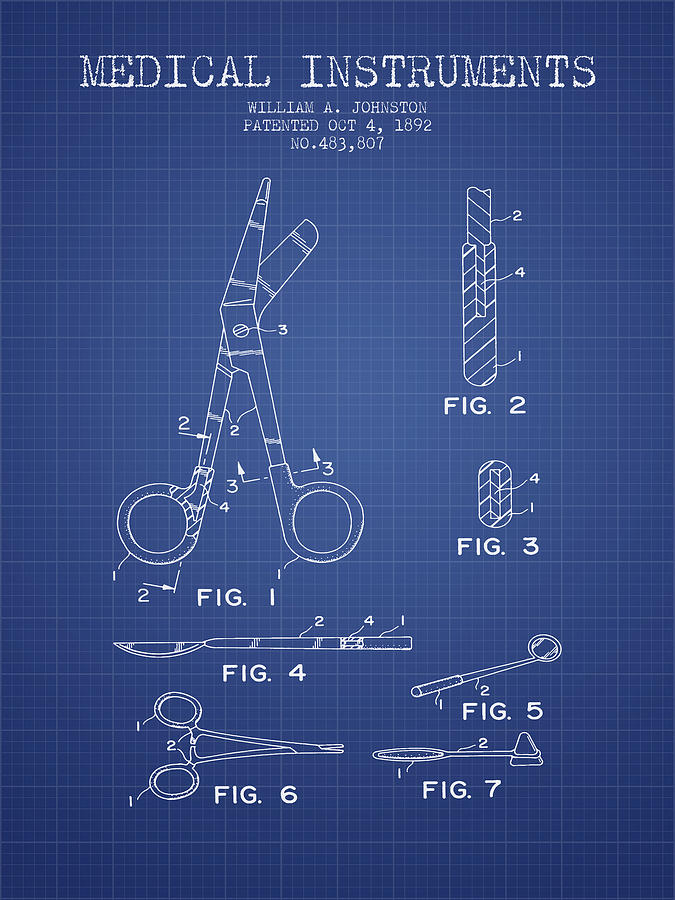 Medical instruments patent from 2001 blueprint digital art by medical device digital art medical instruments patent from 2001 blueprint by aged pixel malvernweather Image collections