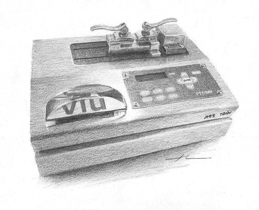 Medical Machine Pencil Portrait Drawing by Mike Theuer