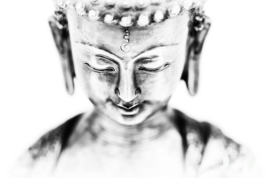 Medicine Photograph - Medicine Buddha Monochrome by Tim Gainey