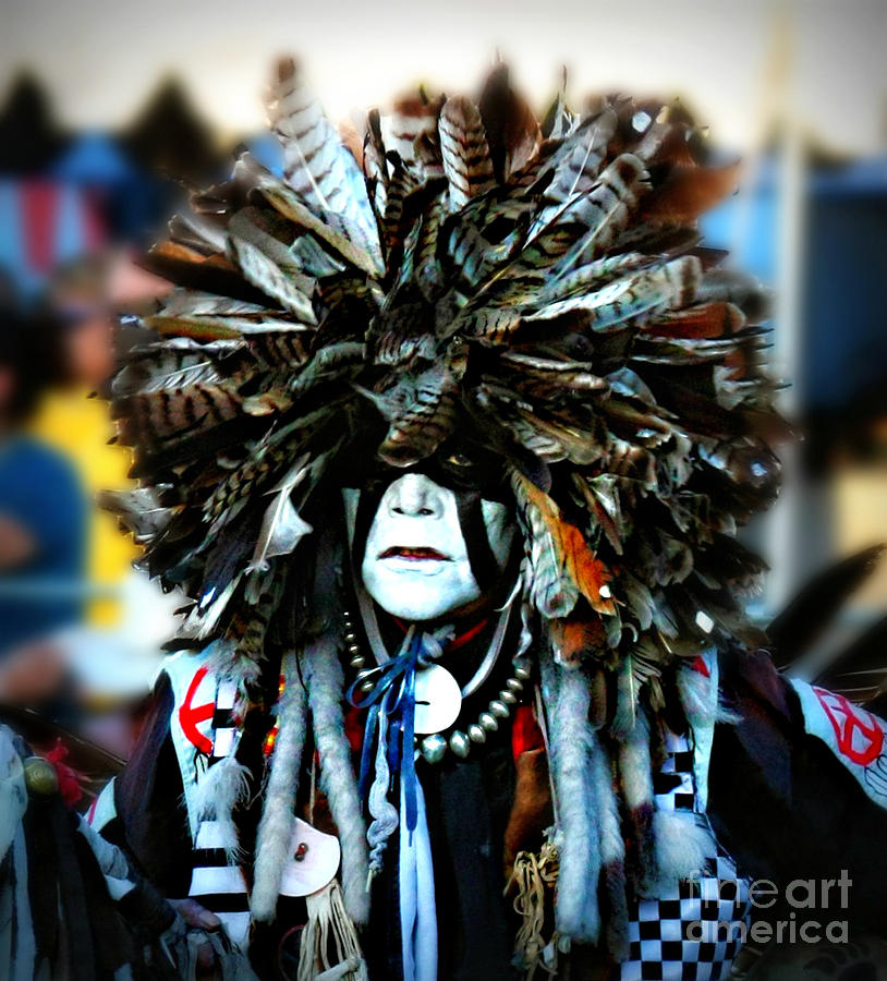 Native American Photograph - Medicine Man Headdress by Scarlett Images Photography