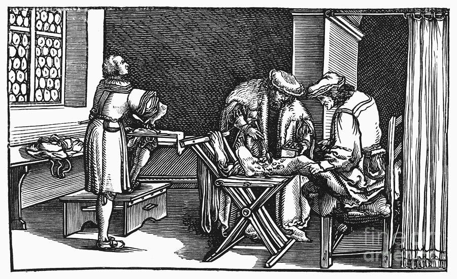 Boethius Photograph - Medicine: Surgery, 1537 by Granger