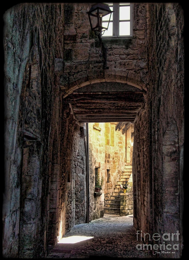Medieval France Photograph - Medieval Alley by Joan  Minchak