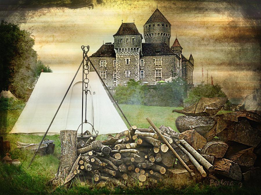 Castle Photograph - Medieval Castle Of Montrottier - France by Barbara Orenya