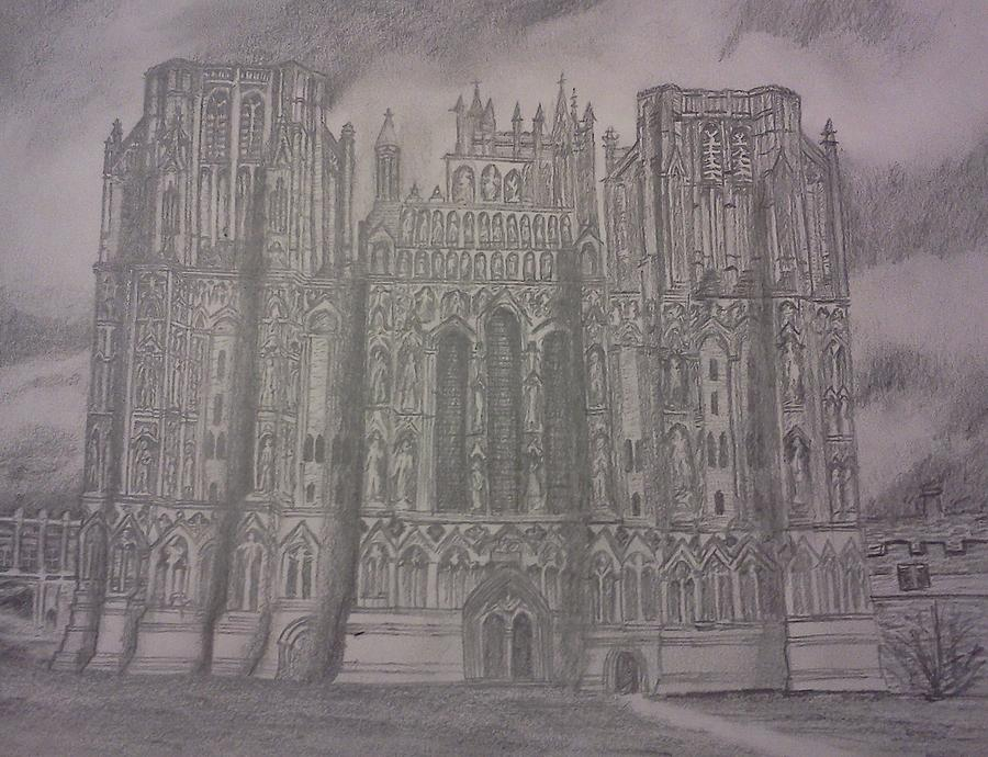 Cathedral Drawing - Medieval Cathedral by Christy Saunders Church