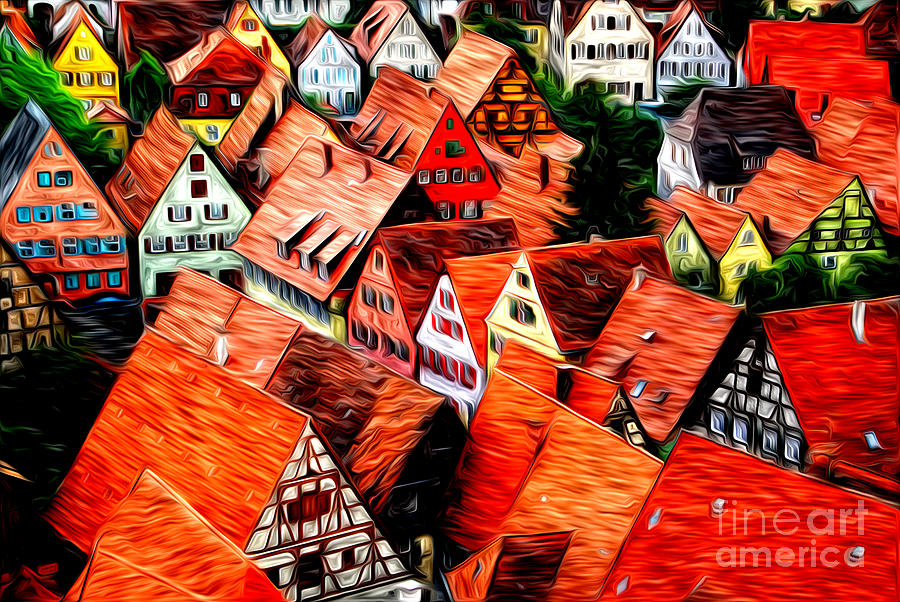 Medieval German Town Photograph