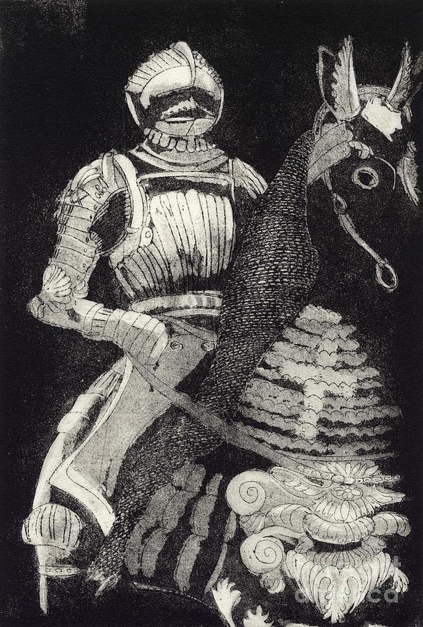 Medieval Knight On Horseback - Chevalier - Caballero - Cavaleiro - Fidalgo - Riddare -ridder -ritter Painting