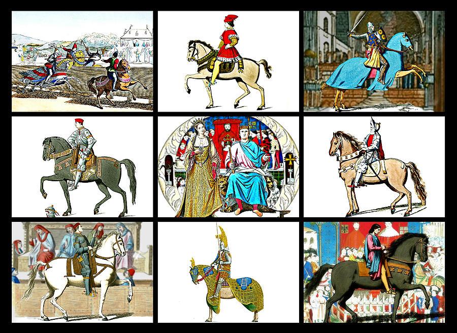 Medieval Digital Art - Medieval Romp by Janice OConnor