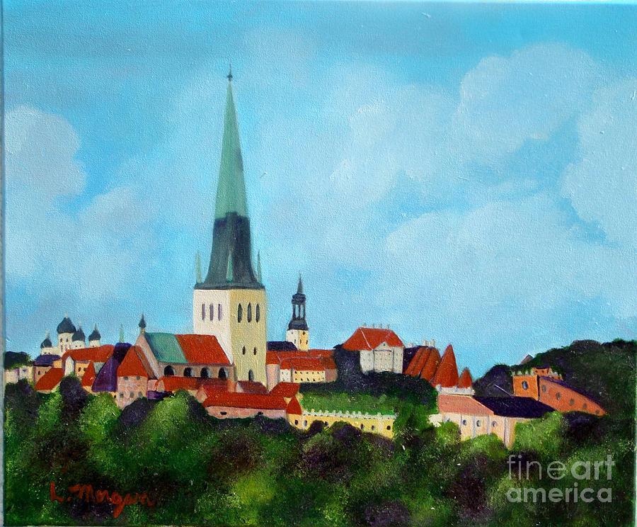 Tallinn Painting - Medieval Tallinn by Laurie Morgan