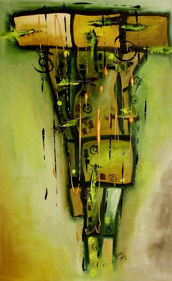 Abstract Painting - Meditatie by Mariana Oros