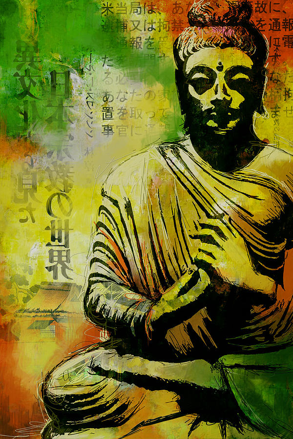 Corporate Art Task Force Painting - Meditating Buddha by Corporate Art Task Force