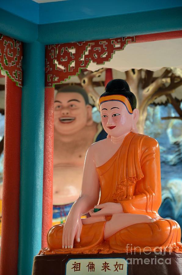 Haw Par Villa Photograph - Meditating Buddha In Lotus Position by Imran Ahmed