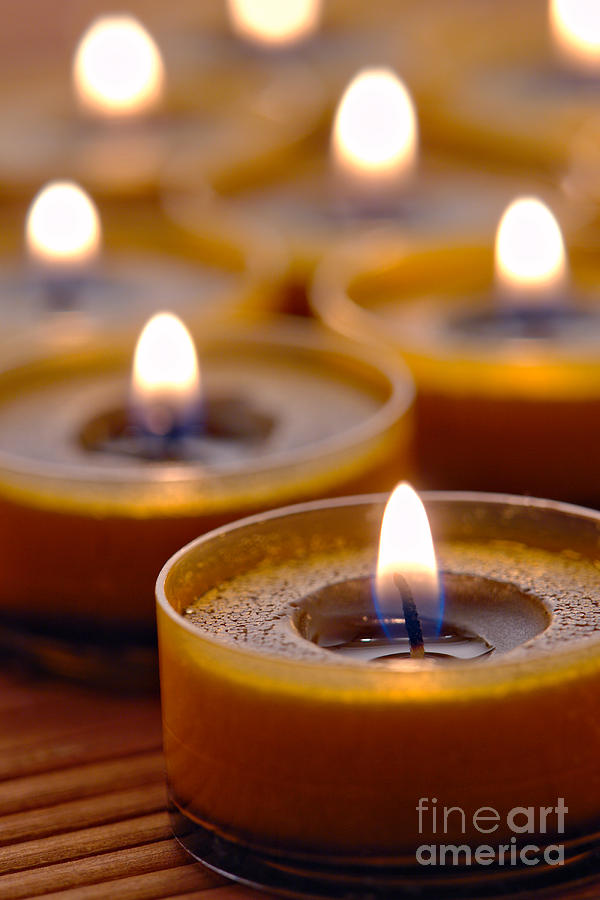 Candle Photograph - Meditation Candles Path by Olivier Le Queinec