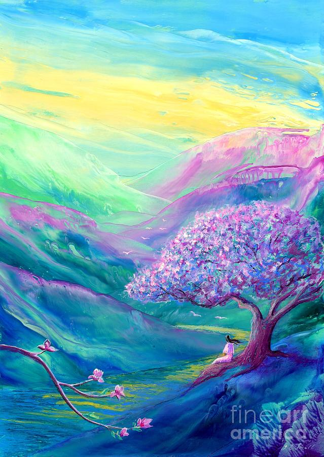 Spring Painting - Meditation in Mauve by Jane Small