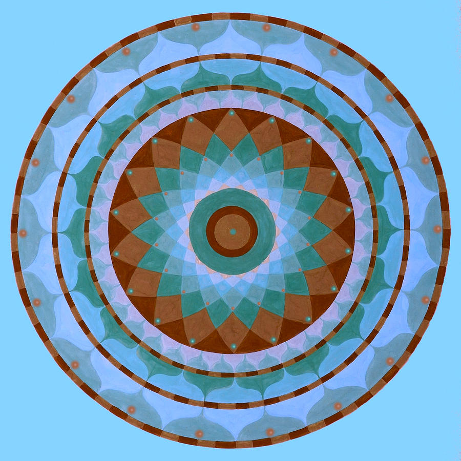 Meditation Mandala Painting by Vlatka Kelc
