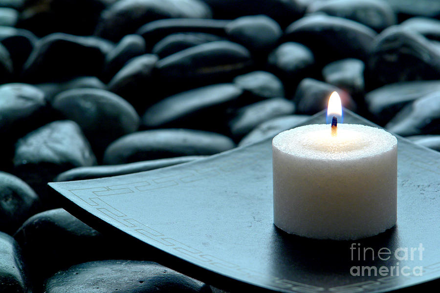 Candle Photograph - Meditation  by Olivier Le Queinec