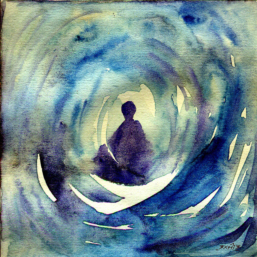 Meditation Painting by TS Manhotra