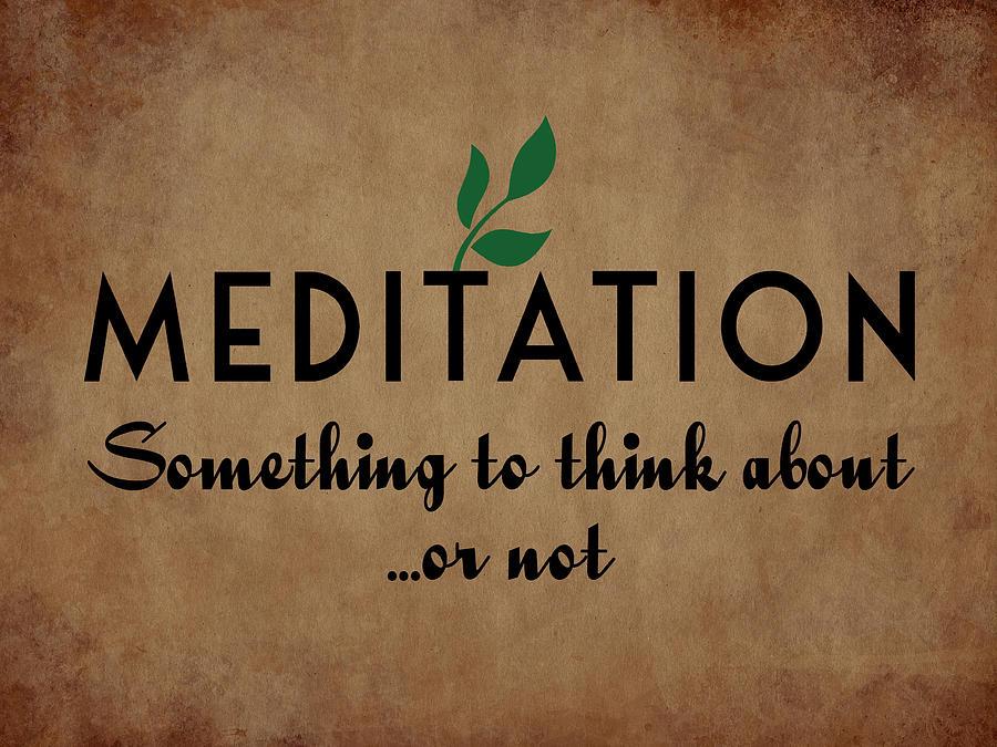 Meditation Digital Art - Meditation by Flo Karp