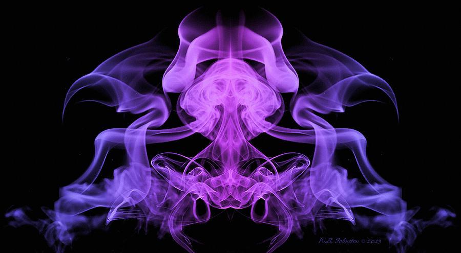 Smoke Digital Art - Meditation by WB Johnston