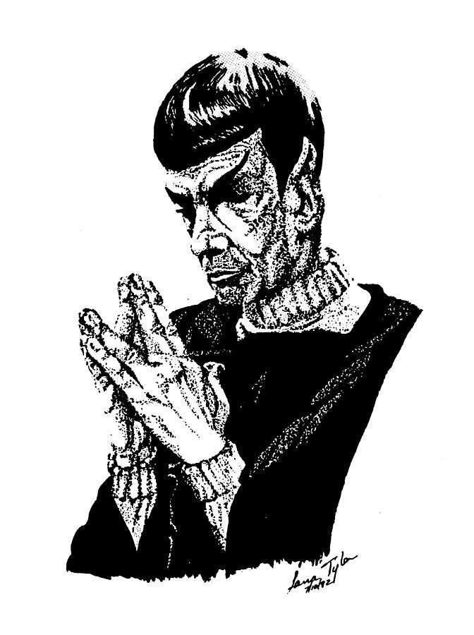Star Trek Drawing - Meditations by Lana Tyler