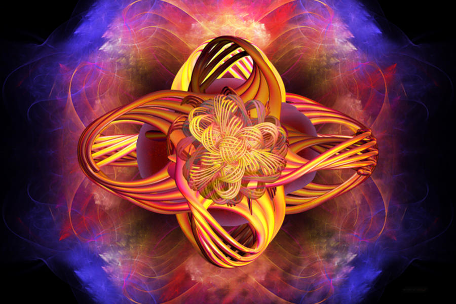 Meditation Digital Art - Meditative Energy by Elizabeth S Zulauf