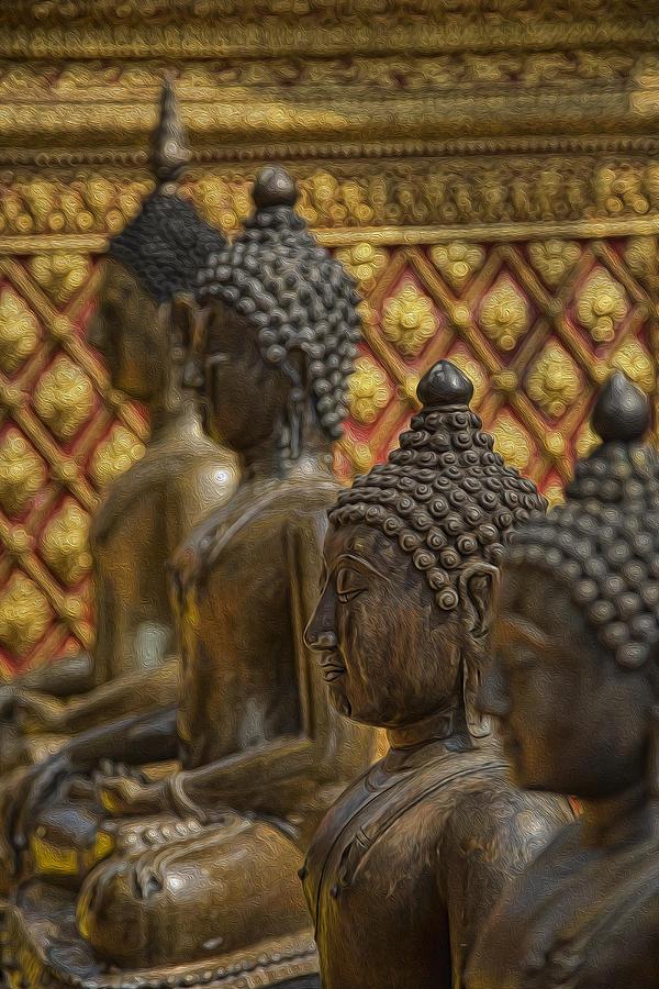 Thailand Photograph - Meditators by Karen Walzer
