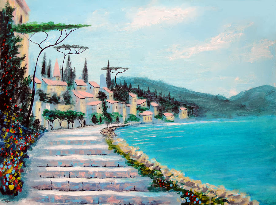 Mediterranean Painting - Mediterranean Shores by Larry Cirigliano