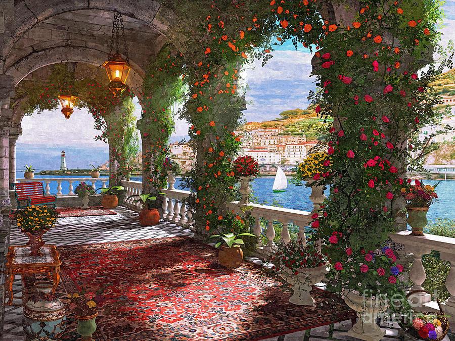 Roses Digital Art - Mediterranean Verander by MGL Meiklejohn Graphics Licensing