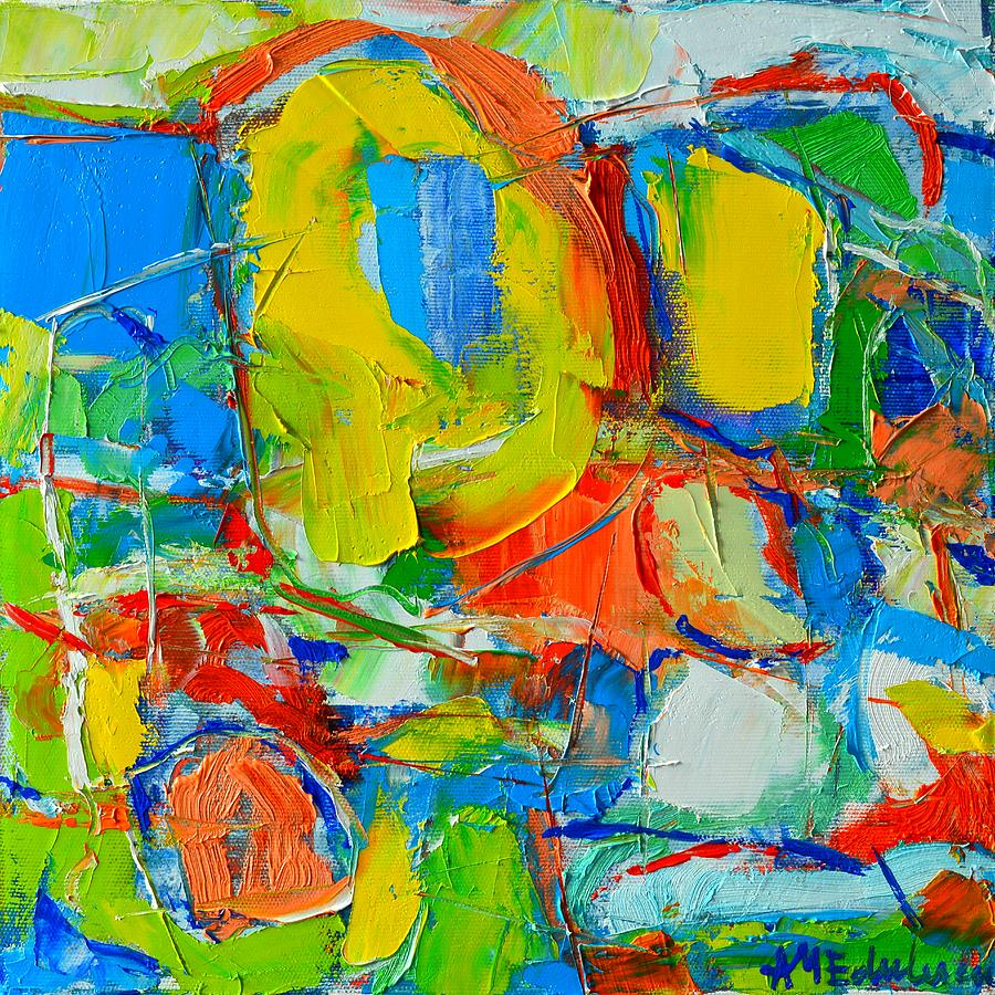 Abstract Painting - Mediterranean Wings by Ana Maria Edulescu
