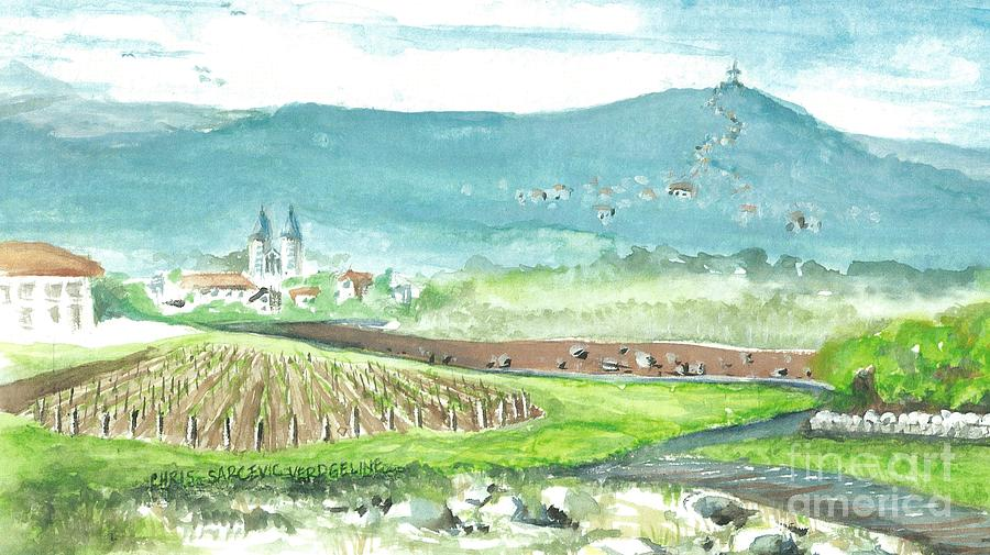 Easter Painting - Medjugorje Fields by Christina Verdgeline