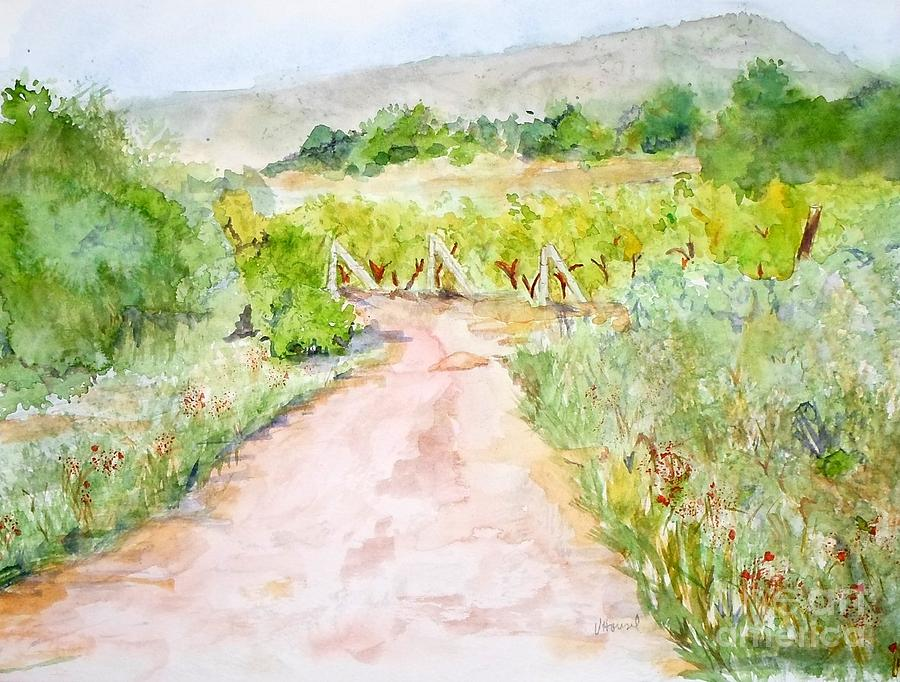 Path Painting - Medjugorje Path To Apparition Hill by Vicki  Housel