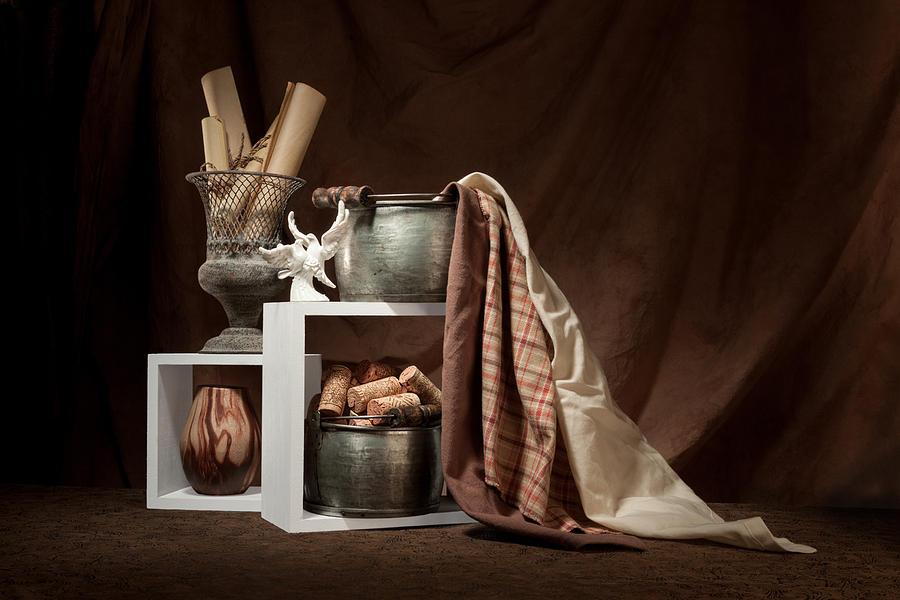 Antique Photograph - Medley Of Textures Still Life by Tom Mc Nemar