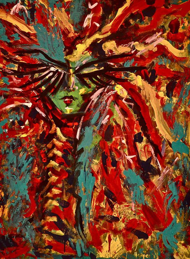 Woman Painting - Medusa by Jennifer Anne Harper