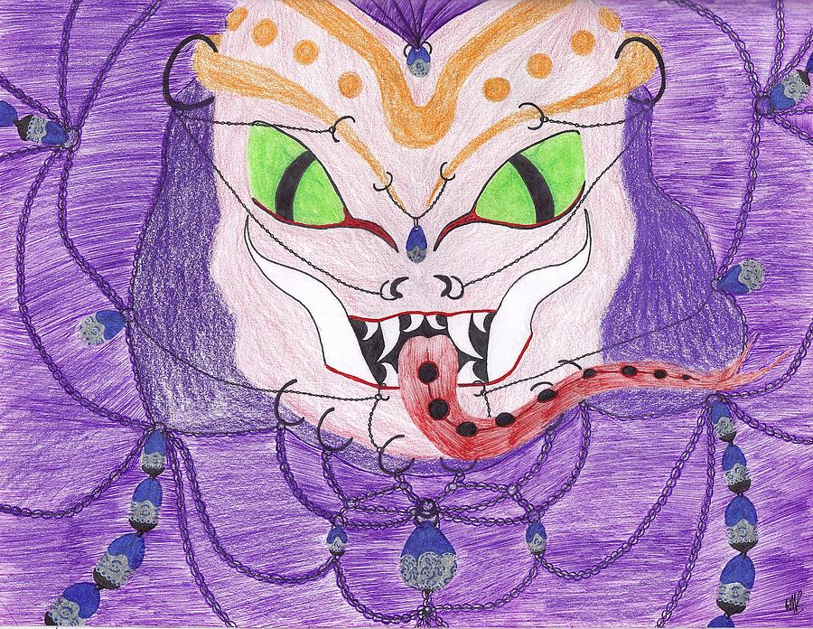 Medusa Drawing - Medusa by Random Merlin Ellis