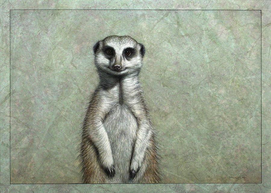 Meerkat Painting - Meerkat by James W Johnson