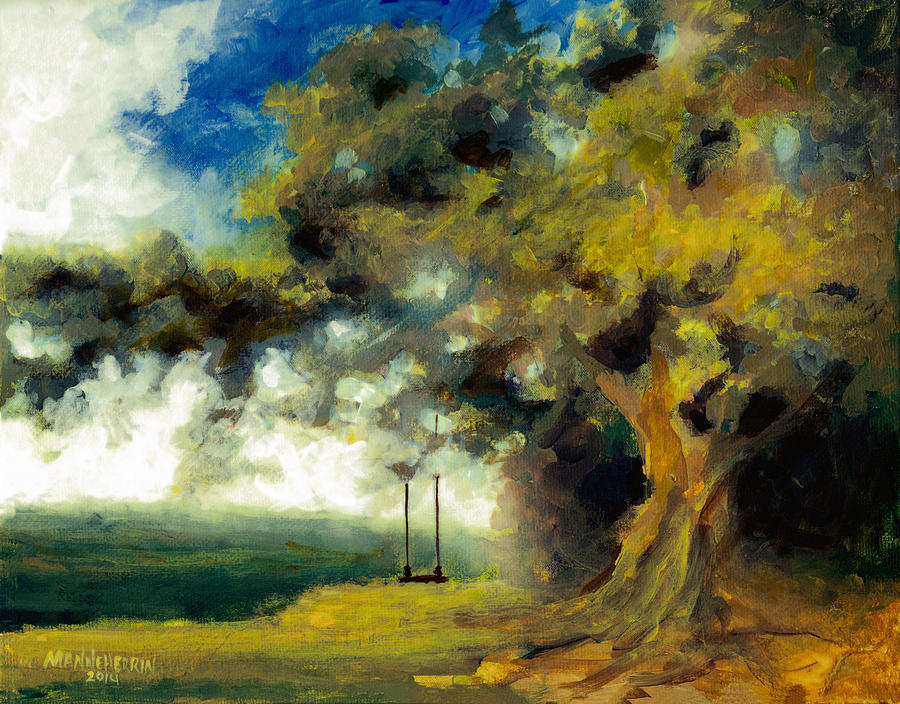 Swing Painting - Meet Me At Our Swing by Melissa Herrin