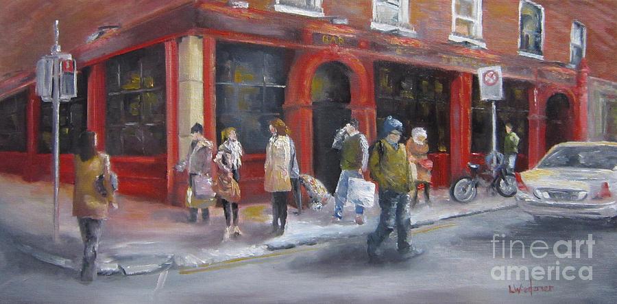 Dublin Painting - Meet Me At The Corner Bar by Leah Wiedemer