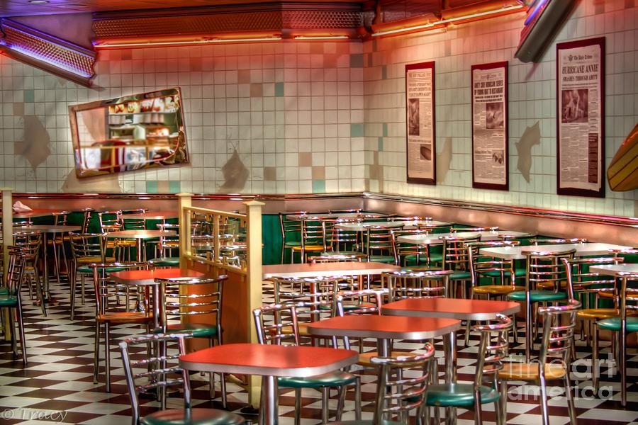 Diner Photograph - Meet Me At The Diner by Tracy  Hall