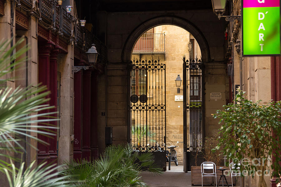 Courtyard Photograph - Meet Me For Coffee In The Courtyard by Rene Triay Photography