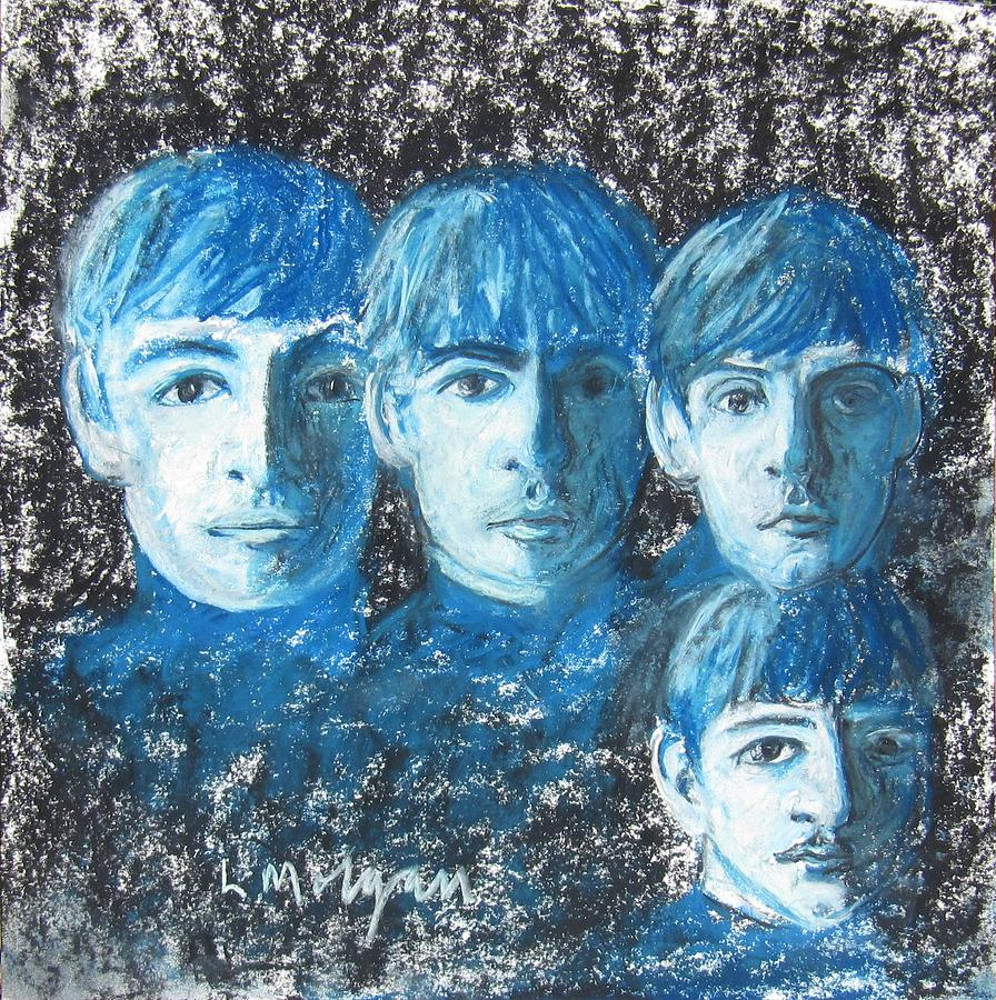 Beatles Painting - Meet the Beatles by Laurie Morgan