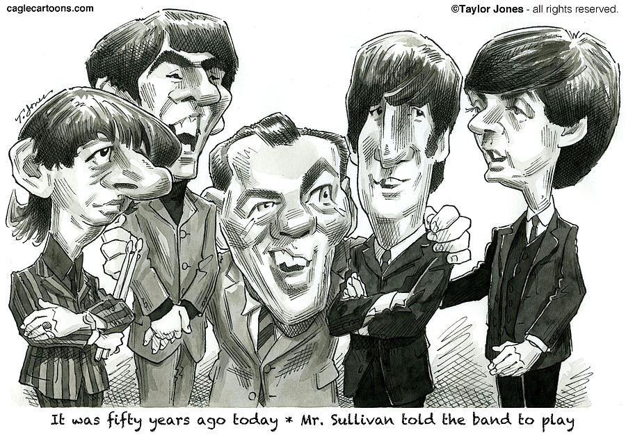 The Drawing - Meet the Beatles by Taylor Jones