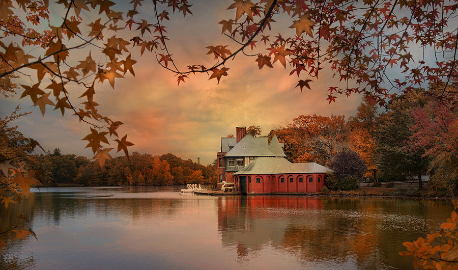 Boathouse Photograph - Meeting At The Lodge by Robin-Lee Vieira
