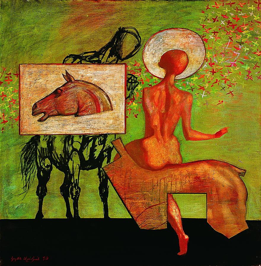 Meeting Painting by Karen Aghamyan