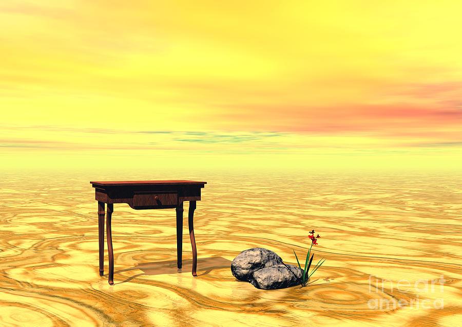Meeting On Plain - Surrealism Digital Art