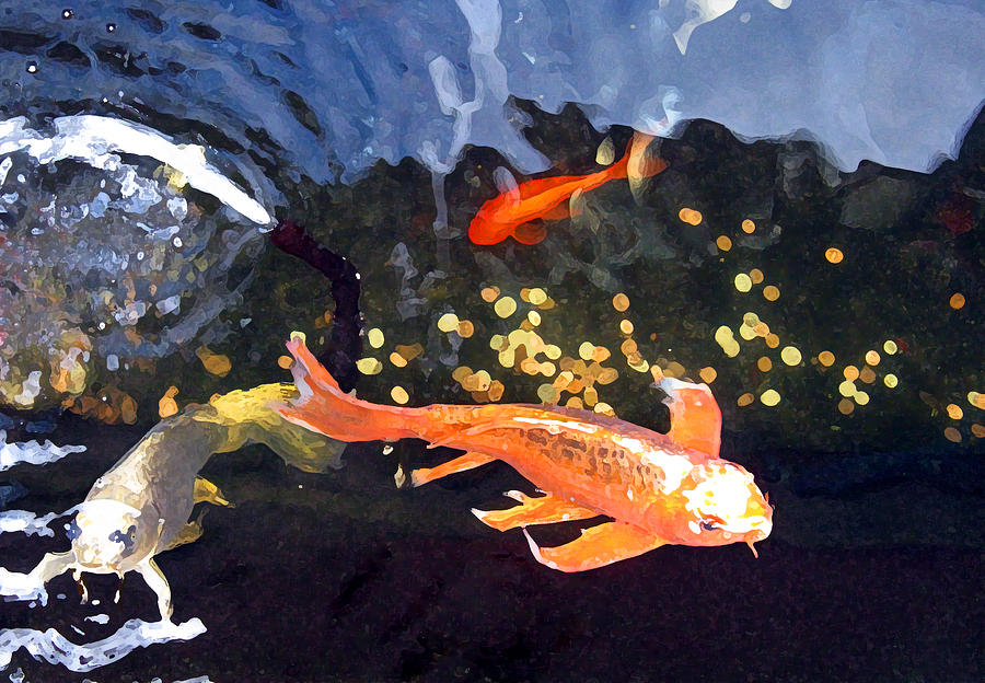 Fish Mixed Media - Meetings On The Riverbank by Patricia Januszkiewicz