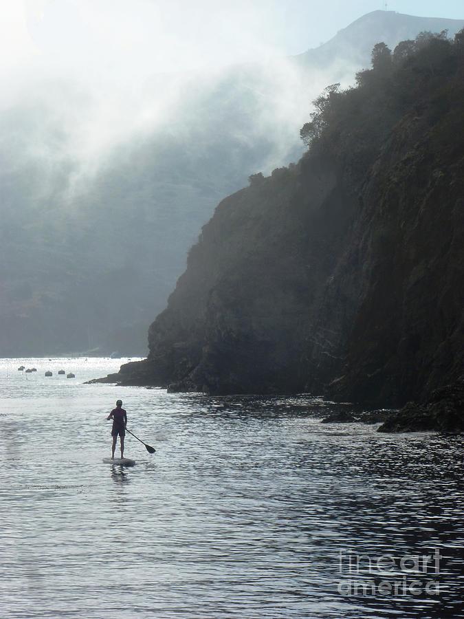 Surf Pyrography - Megan at Catalina  by Randy Sprout